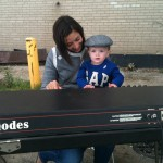 Playing the Rhodes with Mommy!