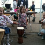 The hand drums got a lot of love this weekend!