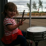 Little drummer girl!