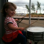 This little darling LOVED  the drum kit!